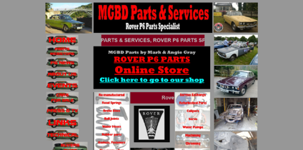 A car parts and services website in a desktop view as a bad example of mobile-friendly websites