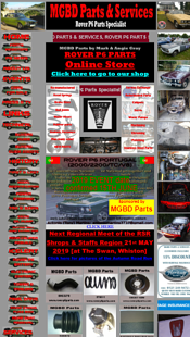 A car parts and services website in a mobile view as a bad example of mobile-friendly websites