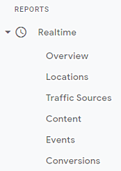 realtime report sections