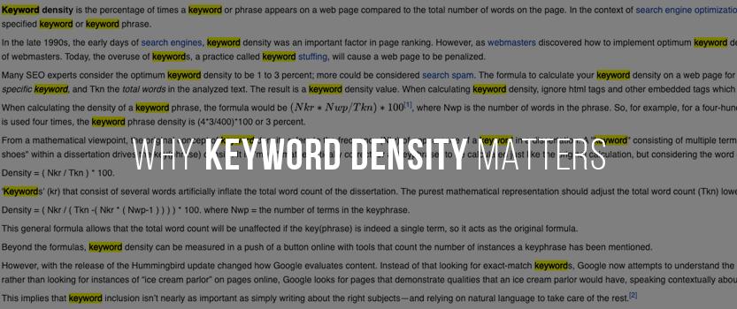 Why Keyword Density Matters